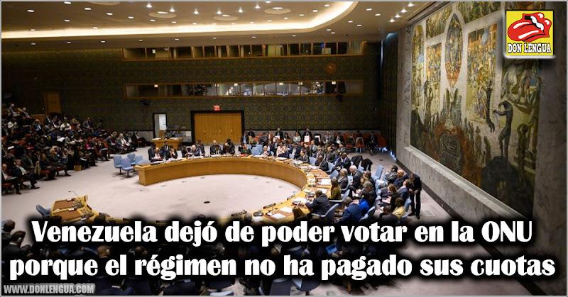 Venezuela dejó de poder votar en la ONU porque el régimen no ha pagado sus cuotas
