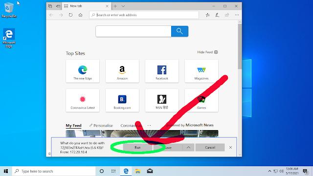 HTA file run on windows PC