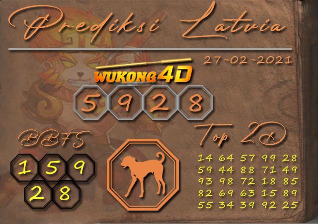 PREDIKSI TOGEL LATVIA WUKONG4D 27 FEBRUARY 2021