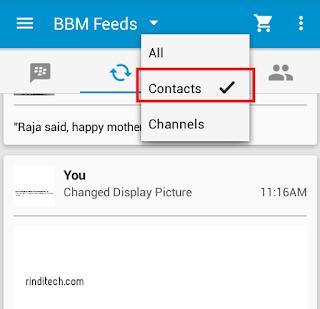 Cara Menghilangkan Iklan di Feeds BBM (Blackberry Messenger) Gratis & Berbayar