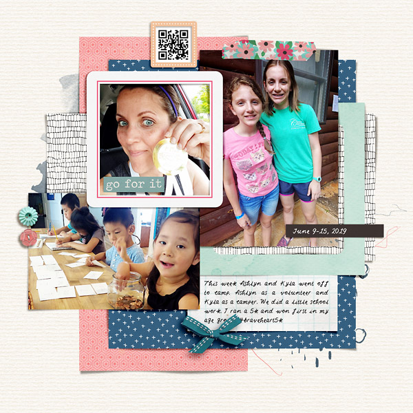 Race, Camp, School Digital Scrapbook Page