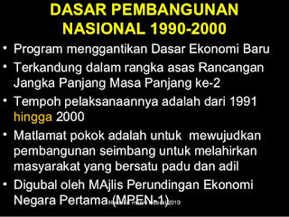 Matlamat Dasar Pembangunan Nasional Malaysia 1991