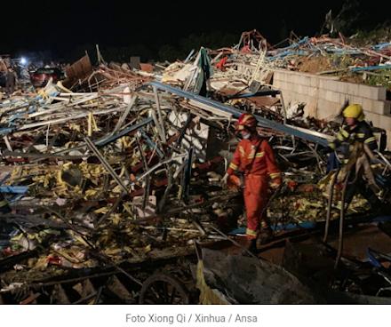 Κίνα : Δύο ανεμοστρόβιλοι σκότωσαν τουλάχιστον 10 ανθρώπους και τραυμάτισαν πάνω από 300 στις πόλεις Γουχάν και Σούζου