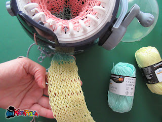 tubolare a maglia fai da te con mulinetto prym midi