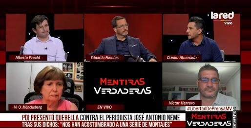 Presidente Colegio de Periodistas, Danilo Ahumada, participa en Mentiras Verdaderas #Libertaddeexpresión