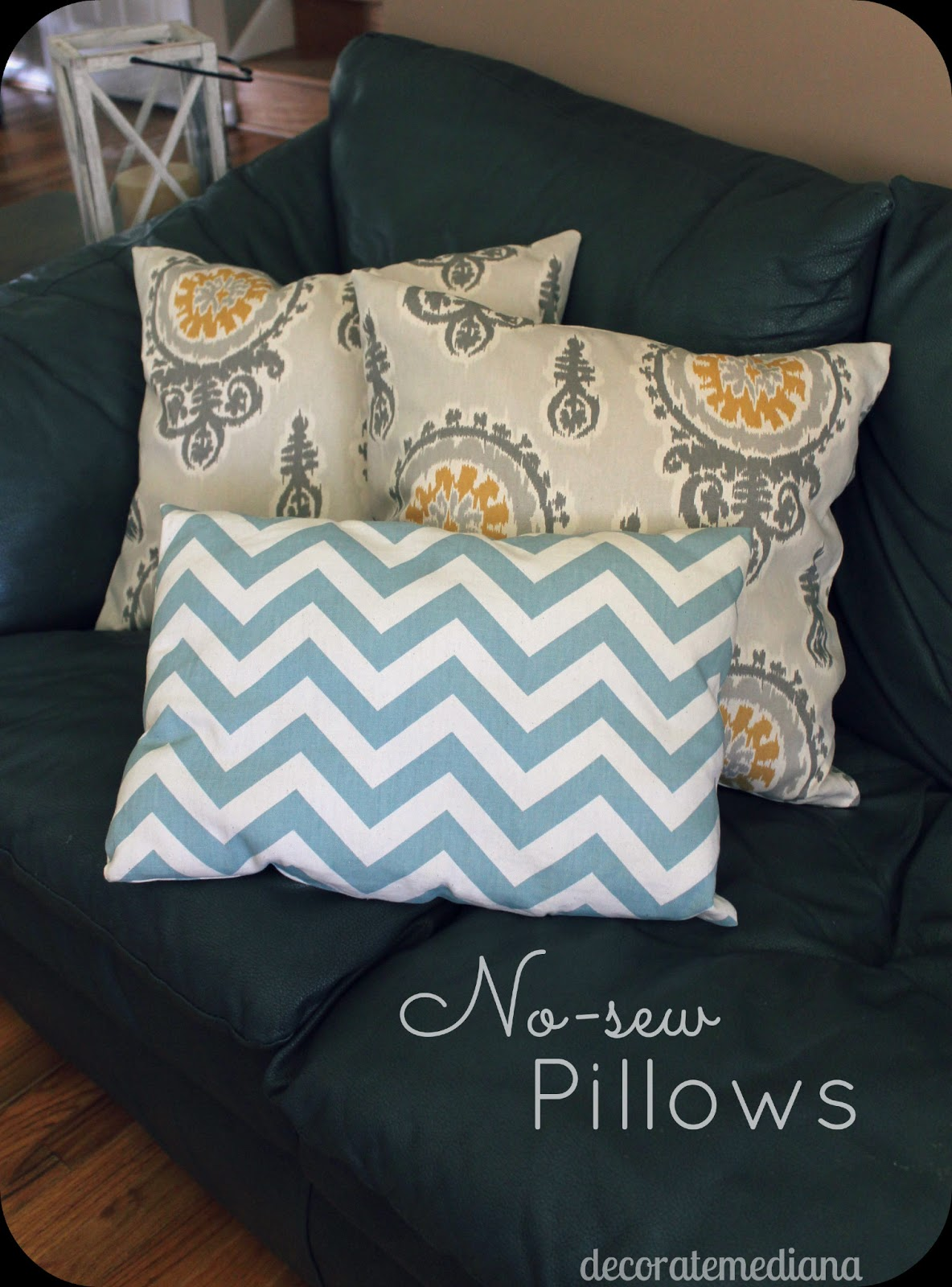 Someday Crafts: No-Sew Pillows