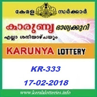 KARUNYA (KR-333) LOTTERY RESULT