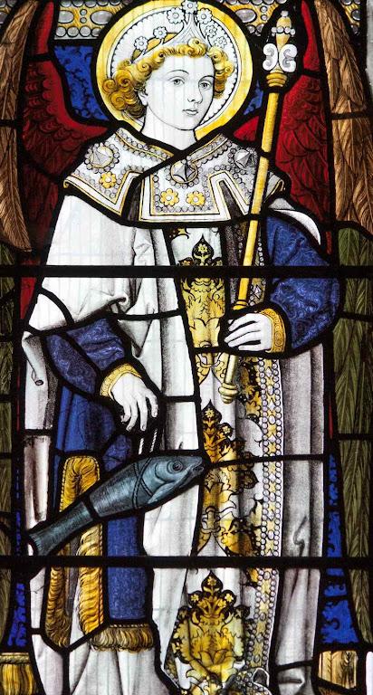São Rafael, vitral de Santos Felipe Tiago, Oxford, Inglaterra