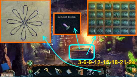 при помощи кода открываем и забираем элемент воздуха в игре затерянные земли 3