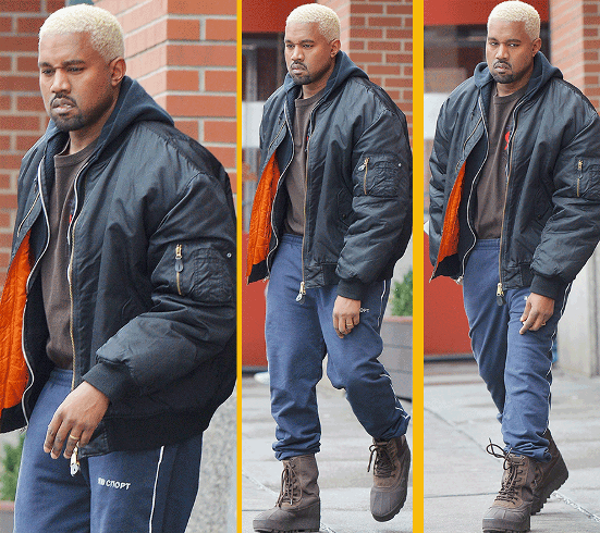 Kanye West and his blonde hair step out in LA