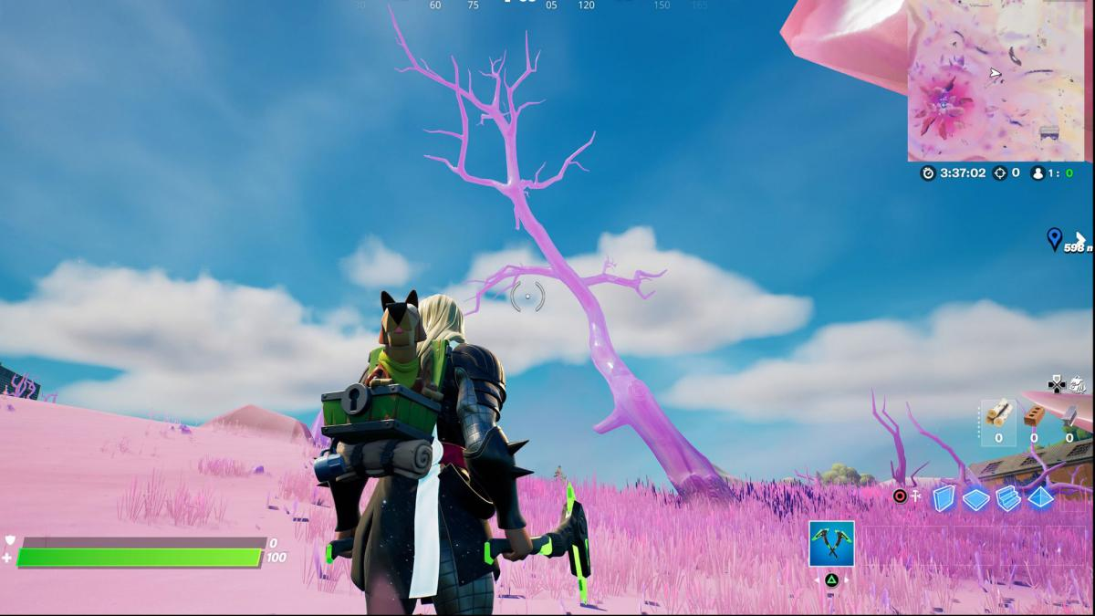 Where to find crystal trees to destroy in Fortnite season 5 - locations