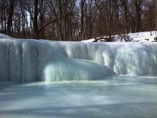 Hidden frozen falls