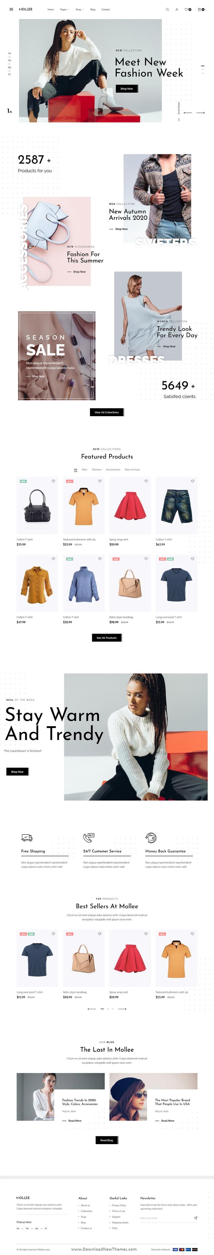 Fashion Store Bootstrap Template