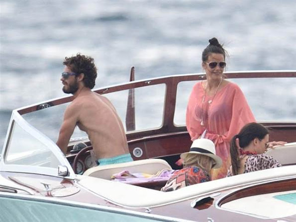 Prince Carl Philip of Sweden and his fiance Sofia Hellqvist on holiday in St Maxime