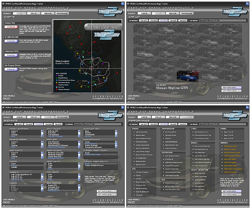 Game trainers: need for speed: underground 2 v1. 1 (+10 trainer.