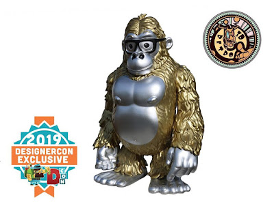 Designer Con 2019 Exclusive GoGORILLA Metallic Edition Vinyl Figure by James Groman x 3DRetro