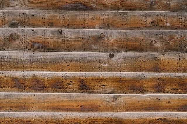 Thick horizontal wooden planks texture