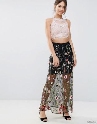 Faldas Largas Transparentes