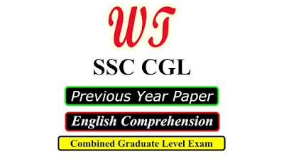 SSC CGL Previous Year English Comprehension Questions