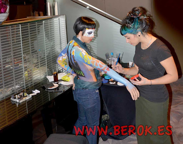 Exhibición body painting