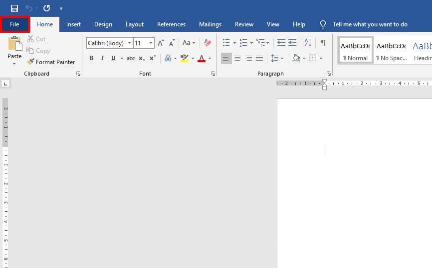 buka menu file