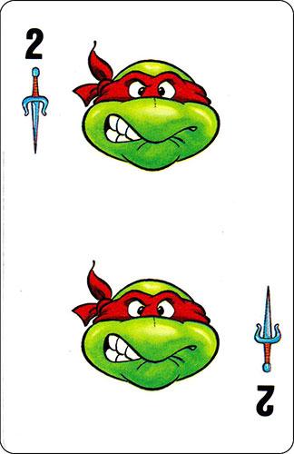 Baraja infantil Las Tortugas Ninja Fournier Carta Raphael 2