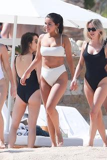 Selena Gomez in White Bikini