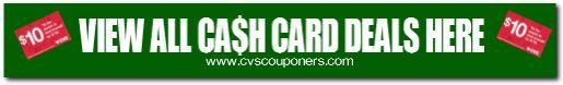View all CVS Cash Card Coupon Deals HERE