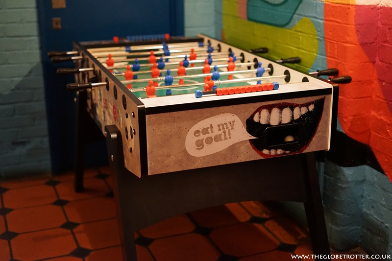 Foosball at Wahaca Restaurant Shoreditch