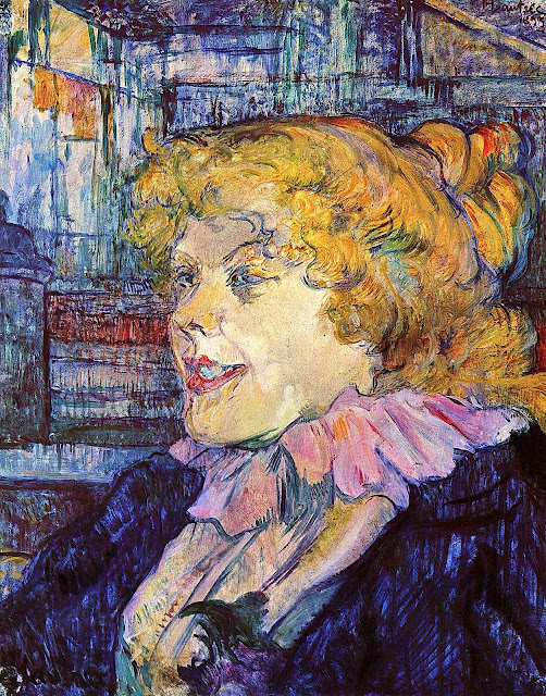 a Toulouse-Lautrec painting of a woman