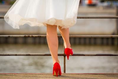 Zapatos de novia en color rojo