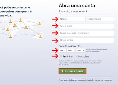Fazer Facebook em Português
