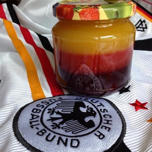 Dreischicht-Marmelade ~ Deutschland-Marmelade