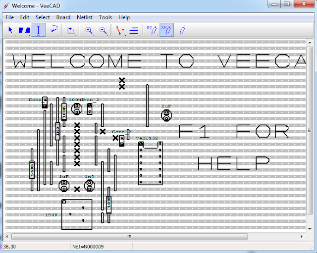 Screenshot VeeCAD Stripboard Editor