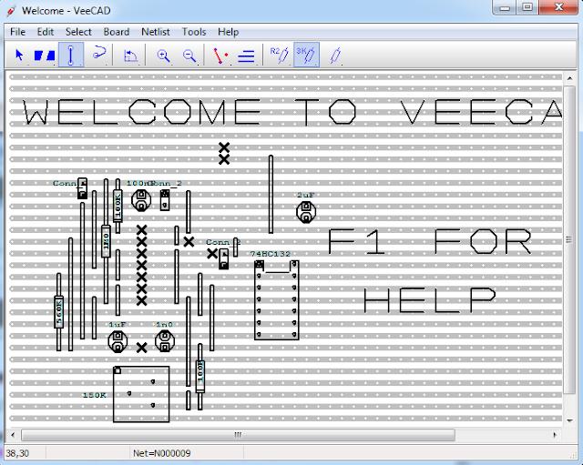 Screenshot VeeCAD Stripboard Editor