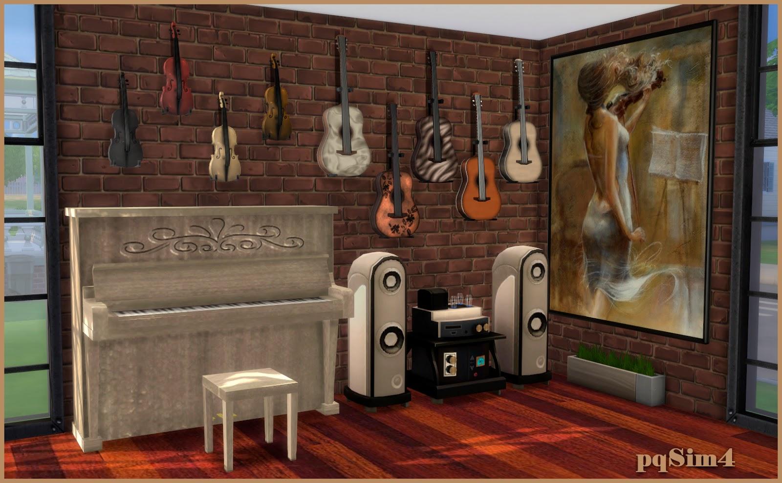 Sala de m sica cleo sims 4 custom content for Cuartos para ninos sims 4