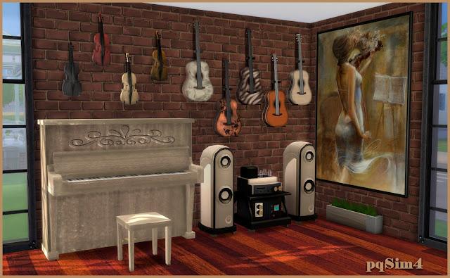 Sala de música. Sims 4 CC.Detalle 3