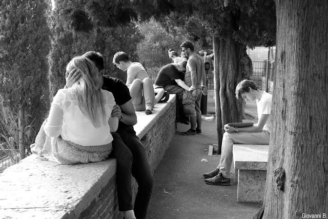 Street photography a Castel San Pietro, Verona