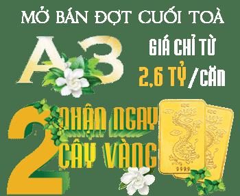 Tặng 2 cây vàng Sở hữu A3 Vinhomes Gardenia