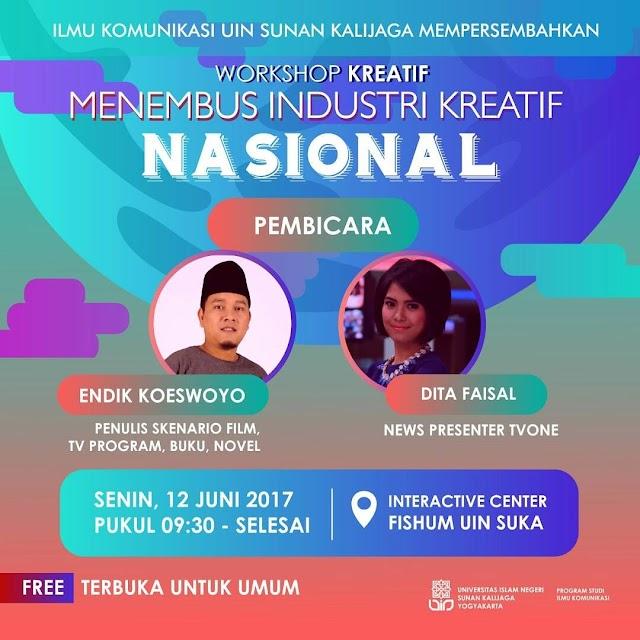 Workshop Creative GRATIS dan terbuka untuk UMUM - YOGYAKARTA