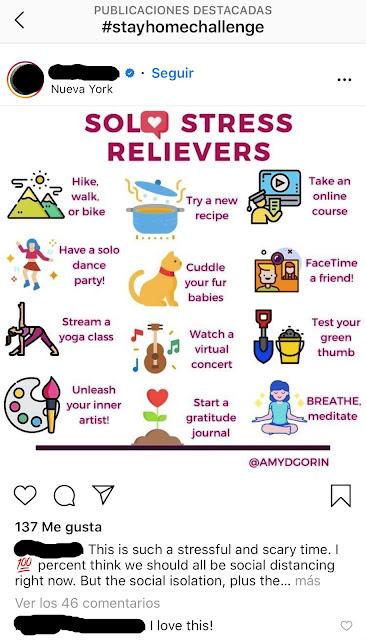 Captura de Pantalla de una Publicación de Instagram