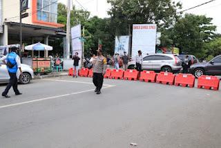 Gugus Tugas Lakukan Penyekatan Jalan dan Penegakan PSBB
