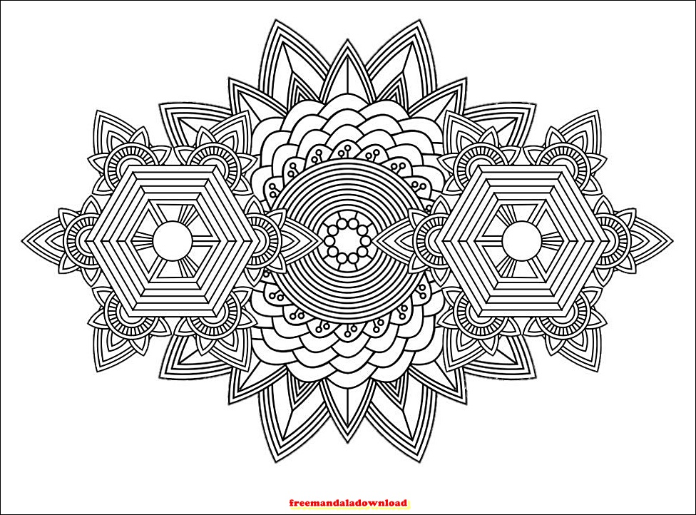 ausmalbild blatt mandala  cartoonbild