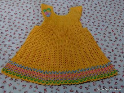 Vestidinho em crochê, Vestido em Crochê Infantil