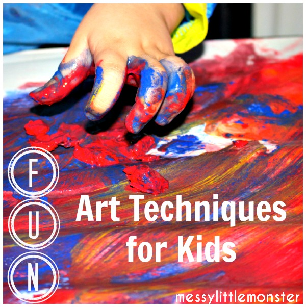 fun art techniques for kids