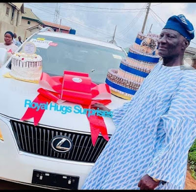 Bobrisky gifts dad car on his birthday