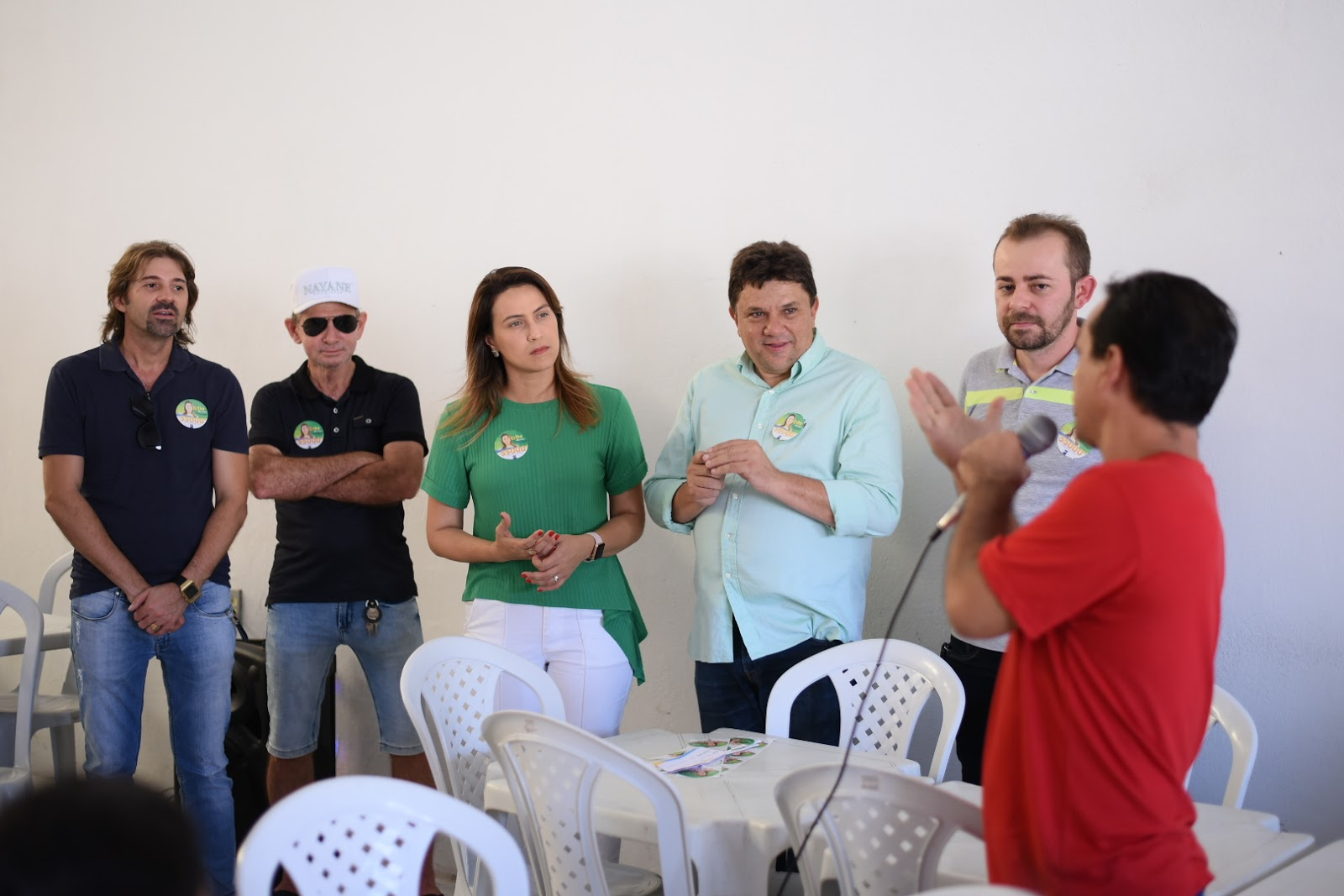 c5bd2a4edb Erika participa de bate-papo com funcionários da Nayane Rodrigues
