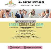Loker Surabaya Terbaru di My Dream Organizer Oktober 2019