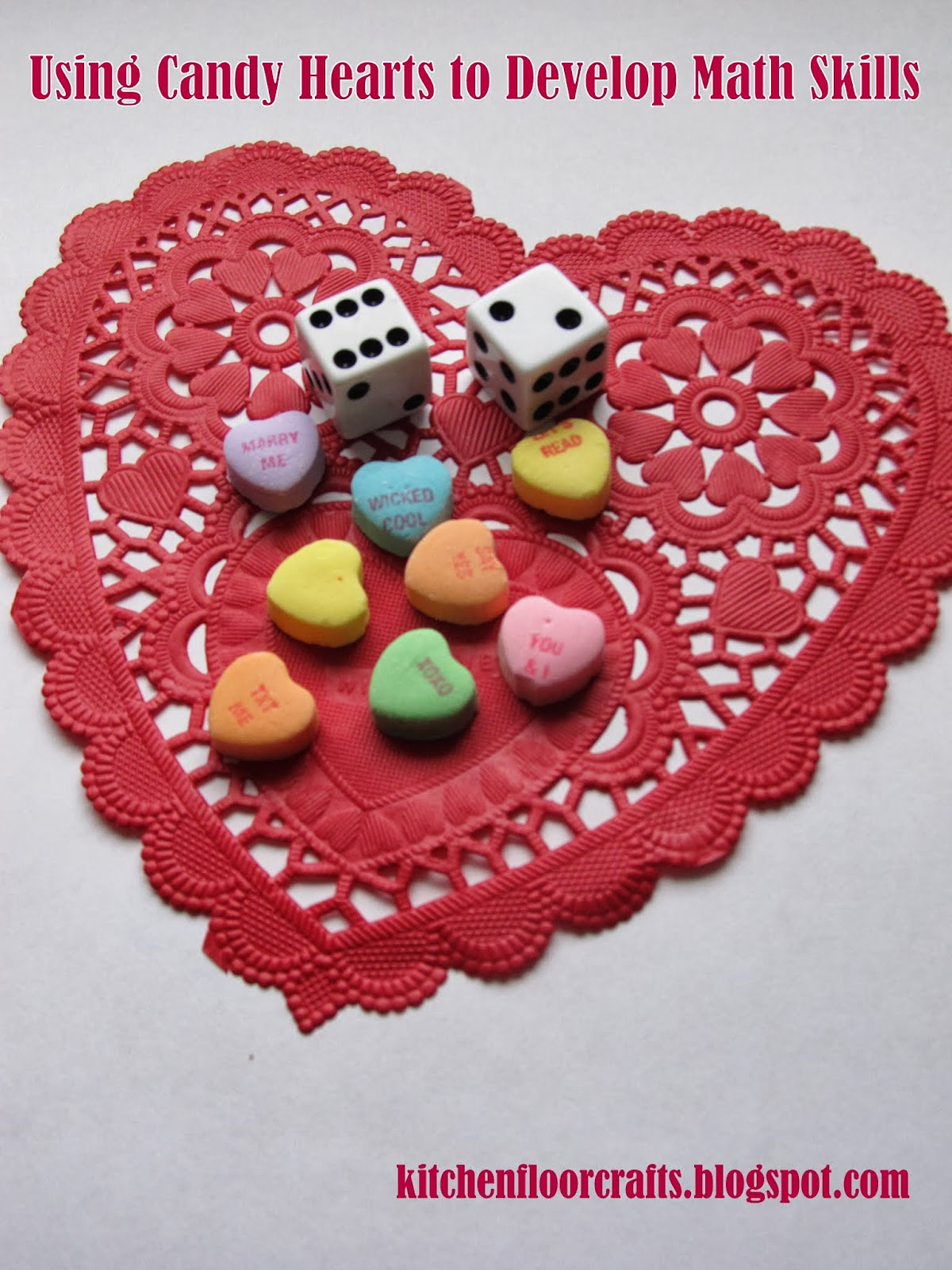 Kitchen Floor Crafts Using Candy Hearts For Early Math Skills With 3 Free Printables