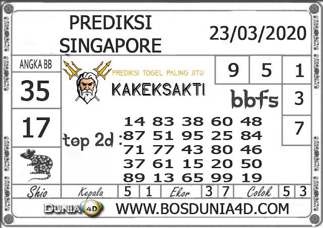 Prediksi Togel SINGAPORE DUNIA4D 23 MARET 2020